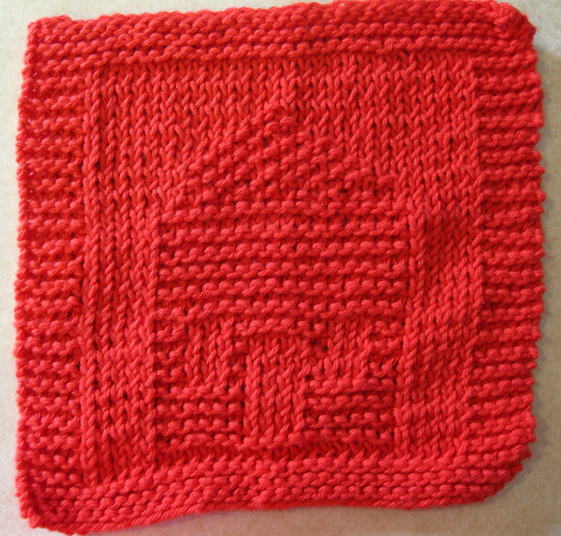 Intermediate Knitting Combining Knit And Purl Stitches : Home Sweet Home Dishcloth Blog of Joy