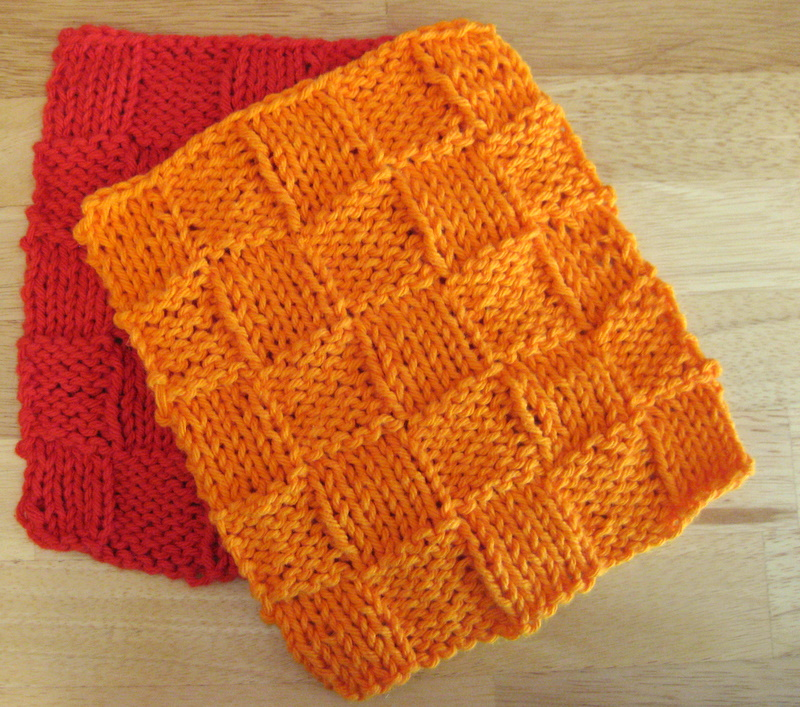 Basket Weave Dishcloth Blog of Joy