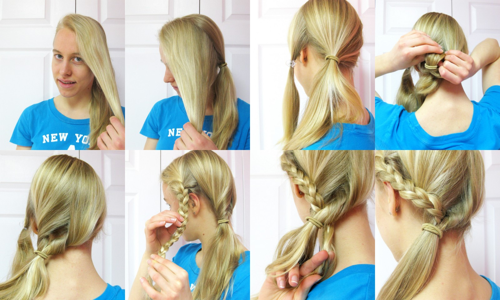 hairstyle tutorial side ponytail with a braid blog of joy