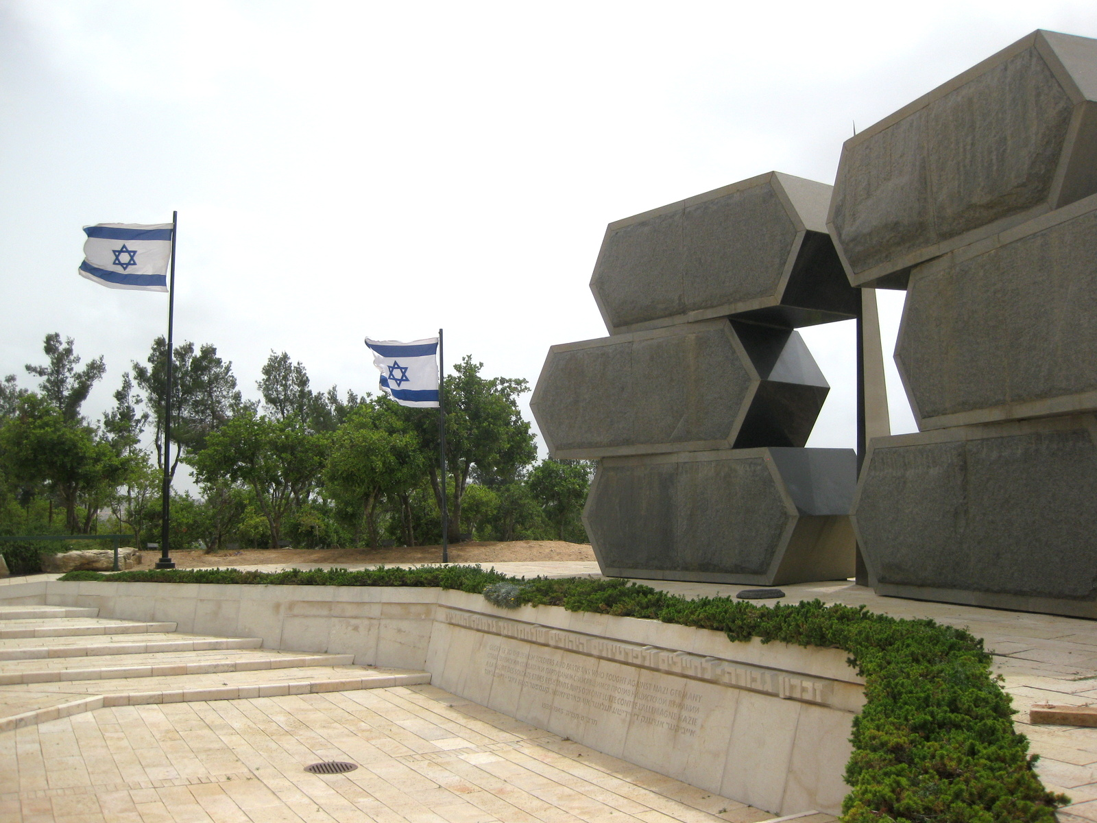 A memorial to Jewish soldiers who fought against the Nazis